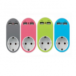 ΑΝΤΑΠΤΟΡΑΣ ΑΣΦΑΛΕΙΑΣ ΣΟΥΚΟ ΜΕ 2 ΘΥΡΕΣ USB