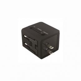 ΤΑΞΙΔΙΩΤΙΚΟΣ ΑΝΤΑΠΤΟΡΑΣ ΑΓΓΛΙΑΣ ΜΕ 2 ΘΥΡΕΣ USB
